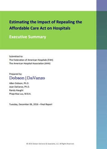 New Report Outlines Impact of Potential ACA Repeal on Hospitals and Health Systems
