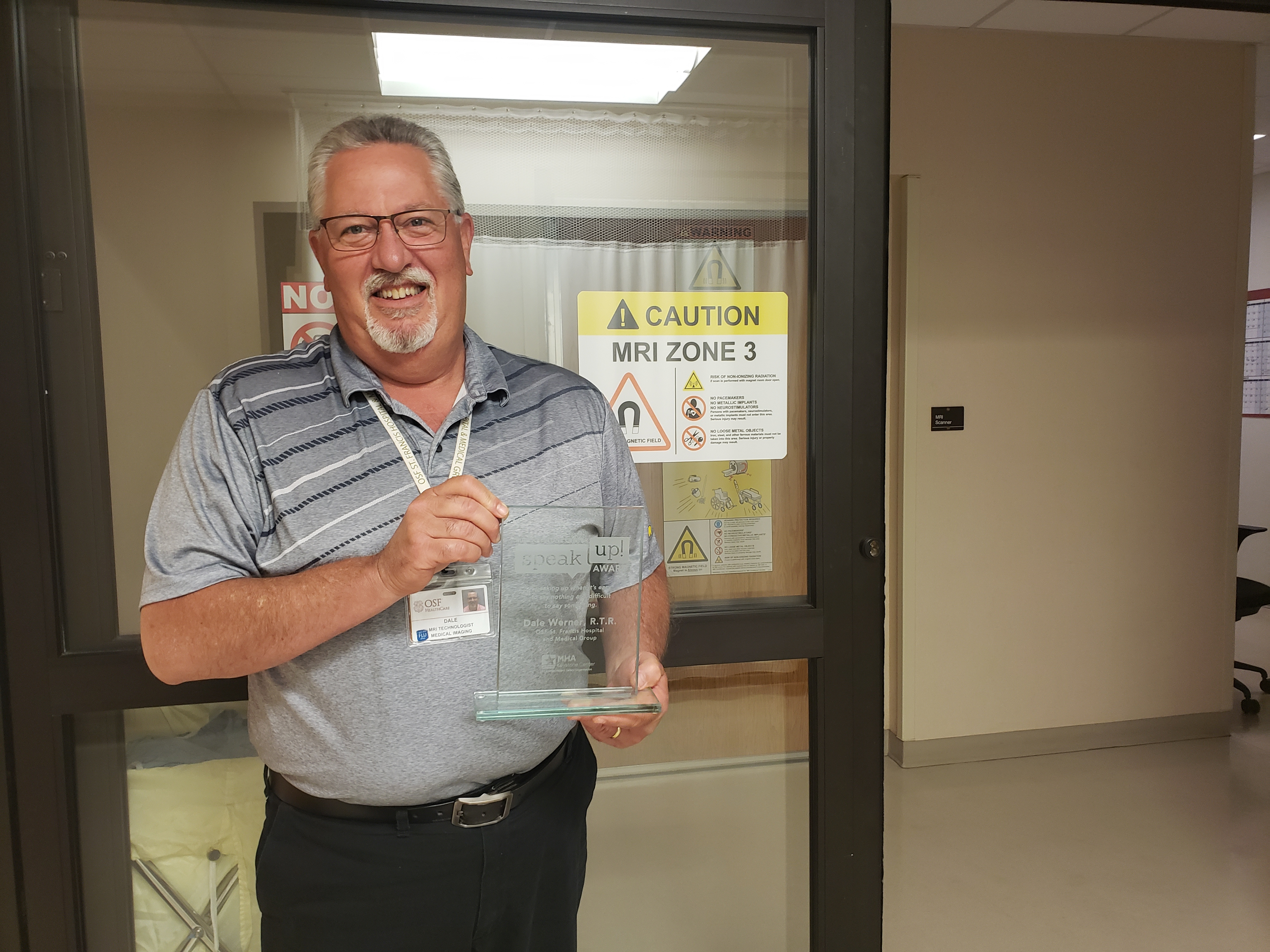 OSF HealthCare St. Francis Hospital & Medical Group Employee Receives Annual 2019 Speak-up! Award, Celebrates Safe Culture