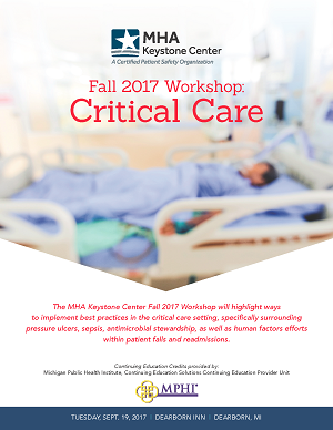 Register Now for the MHA Keystone Center Fall 2017 Workshop