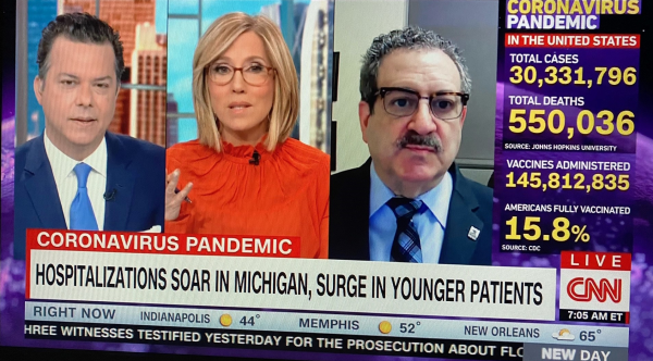 MHA CMO Dr. Gary Roth appears on CNN on March 30.
