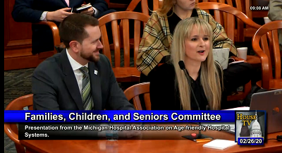 Testimony on Age-Friendly Care Delivered in House Committee