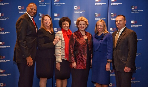 MHA representatives meet with U.S. Sen. Debbie Stabenow during AHA Annual Meeting