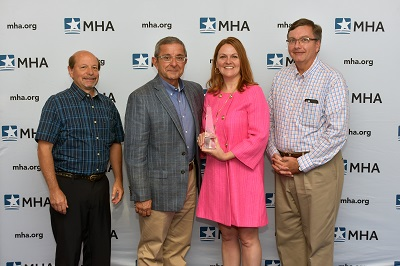 Helen Johnson, chief nursing officer, Spectrum Health Ludington Hospital was honored with the 2018 Healthcare Leadership Award.