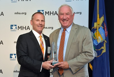 Brian Peters, CEO, MHA and Richard Breon, president and CEO, Spectrum Health, Grand Rapids