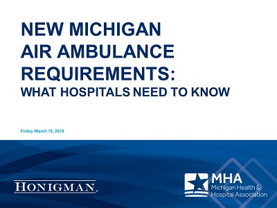 Webinar Materials Available on Air Ambulance Requirements Taking Effect March 19